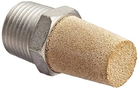 Dixon CMF48 Nickel Plated Steel Air Hose Fitting, Conical Muffler, 1/2 NPT Male by Dixon Valve & Coupling