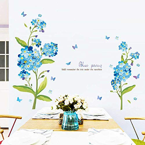 Literarisch potted Wand Aufkleber Wohnzimmer-Schlafzimmerdekoration selbstklebendes Papier frische Pflanze Blumenwand dekorative Malerei - Reve Finish