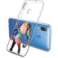 Oihxse Funda Samsung Galaxy J510, Ultra Delgado Transparente TPU Silicona Case Suave Claro Elegante Creativa Patrón Bumper Carcasa Anti-Arañazos Anti-Choque Protección Caso Cover (A12)