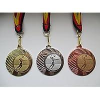 Medaillen Beachvolley Pokal Kids 20 x Medaillen Deutschland-Band Turnier Emblem Volleyball
