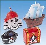 Amscan 551283–4Kerzen mit Mini Figur Piraten