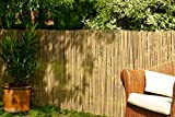 Bamboo Slat Fencing Screening Roll for Garden Outdoor Privacy - 4m x 2m - by Best Artificial (TM) - Best Artificial - amazon.co.uk