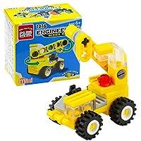 cicadi Toddler Mini Crane Forklift Bulldozer Excavator Dumper Building Block Toys