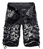 AYG Cargo Shorts Maenner Camouflage Shorts Herren Sommer Kurze Militär Hose