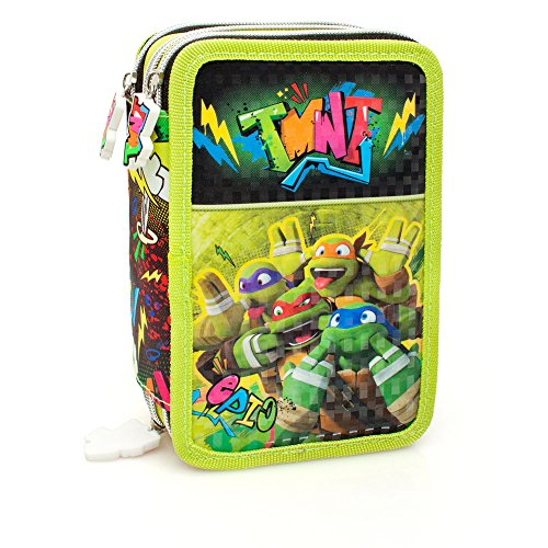 Ninja Turtles Komplette 3 Zip Deluxe Tasche - Giotto Farben (Turtle Ninja Gefüllte)