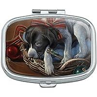Sleepy Weihnachten Urlaub Puppy Hund Rechteck Pille Fall Schmuckkästchen Geschenk-Box preisvergleich bei billige-tabletten.eu