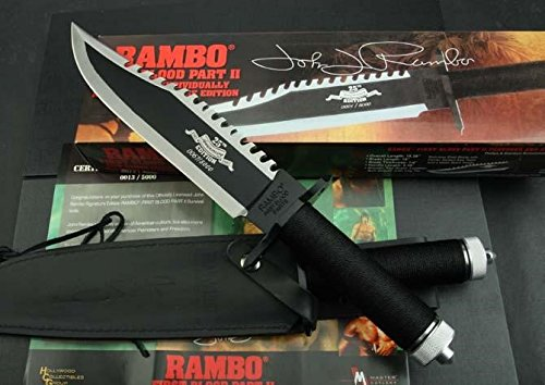 Unbekannt Rambo 2 - First Blood Part II Messer - Master Cutlery - Limitierte 25th. Anniversary Signature - John Rambo 1 von 5000 in red Box *Original+NEU+OVP*