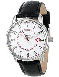 Breytenbach Unisex-Armbanduhr 24H-Dualtime Analog Quarz Leder BB7750TRW