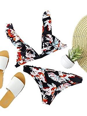 Bikini - Estampado Flores y Volantes