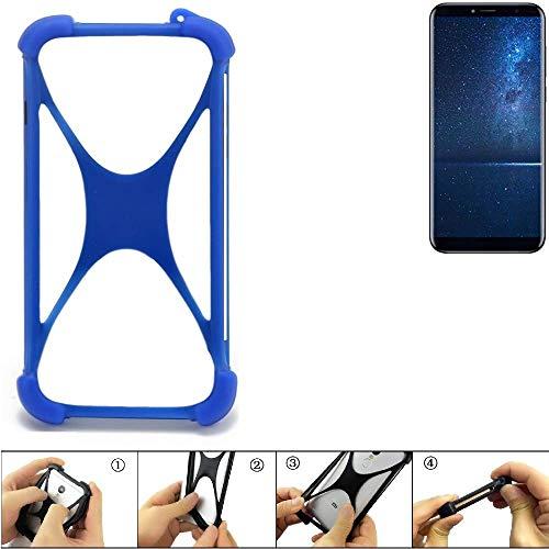 K-S-Trade® Handyhülle Für Cubot X18 (2017) Silikon Schutz Hülle Cover Case Bumper Silikoncase TPU Softcase Schutzhülle Smartphone Stoßschutz, Blau (1x),