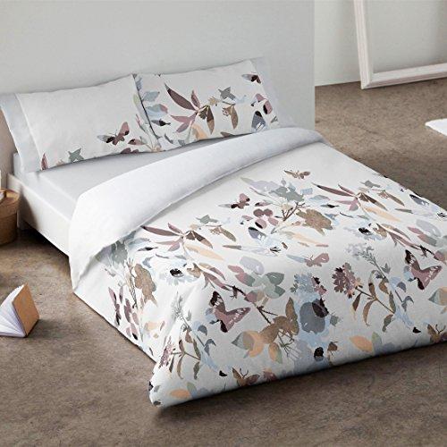 Burrito Blanco - Juego de funda nórdica 340 Gris, para cama de 150 x 190/200 cm.
