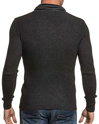 BLZ jeans - Man Pullover mit Reißverschluss Schalkragen schwarz Schwarz