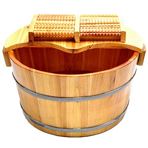 Zcrfy Saune Vasca Per Piedi Vasca Da Bagno In Legno Massello Per Piedi Di Ammollo Piedi Vasca Di Legno Pediluvio Piede Di Pino Pedicure Salutare 30cm