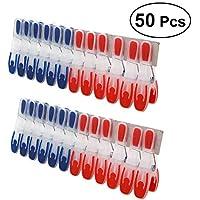 BESTONZON 50 Piezas Pinzas para la Ropa Mini Antideslizante a Prueba de Viento Pinzas de lavandería Clips de Fotos para Ropa Interior Calcetines de Secado