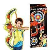 YAHAMA Arco y Flechas Juguete Tiro con Arco Niños con Luz Arrow Bow