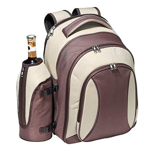 Picknickrucksack 'Picknick Deluxe' Tasche für 4 Personen Outdoor Campingset mit 21-Teiligem Geschirr