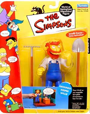 The Simpsons - GROUNDSKEEPER WILLIE - Serie 4 - 2001 Playmates - Intelli-Tronic - OVP