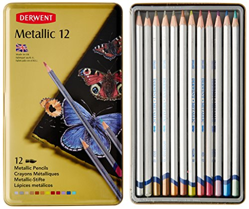 derwent-700456-metallic-12-water-soluble-colouring-pencils-tin-set-of-12