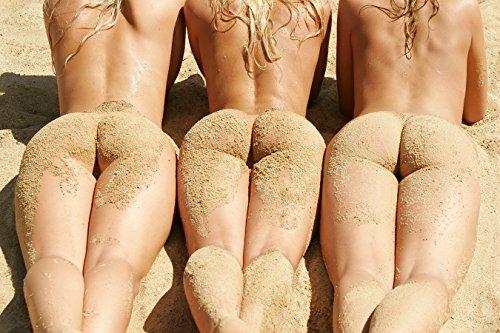 selbstklebende Fototapete - Frauen am Strand - 90x60 cm - Tapete mit Kleber – Wandtapete – Poster – Dekoration – Wandbild – Wandposter – Wand – Fotofolie – Bild – Wandbilder - Wanddeko - 2