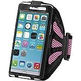 kwmobile Brazalete deportivo para Smartphones - Funda deportiva para footing, pasear, cinta de correr, en rosa fucsia - compatible por ej. con Samsung, Apple