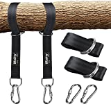 iRainy Tree Swing Hanging Straps (Set de 2), Kit de columpio Swing sin estiramiento con cerradura de seguridad Mosquetones Bolsa de transporte Perfect For Tire, Disc Swings, Hamacas, Soporta hasta 2200 LB