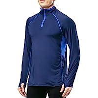 Muscle Alive Fitness Uomo Trimestre Cerniera Lampo in Esecuzione Attivo Magliette Allenarsi Lungo Manica Maglia con…