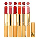 Rythmx 6 Colors 6 Pcs Creamy Matte Lipst...