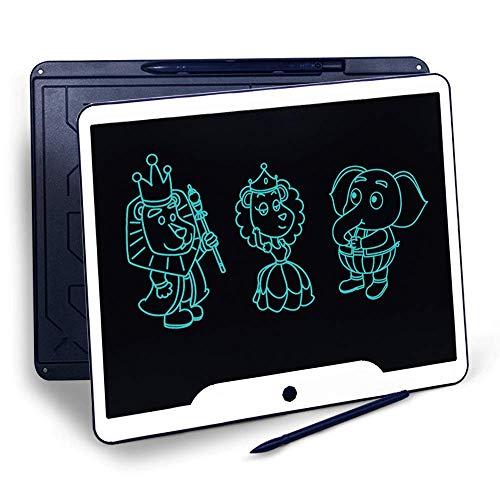 Richgv 15 Pulgadas Tableta Gráfica, Tablets de Escritura LCD, Portátil Tableta de Dibujo, Adecuada para el hogar, Escuela, Oficina, Cuaderno de Notas, 1 año de garantía (Azul)