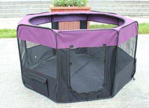 KaKa Mall Welpenlaufstall für Hunde Faltbar Laufstall Hund Waschbar Tierlaufstall für Hunde Katzen 8 Plattens(S,Lila)