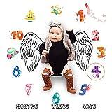 Faylapa Neonata Milestone coperta mensile Neonata, 0-12 giorni, 0-12 settimane, 0-12 mesi neonato neonato Puntelli fotografia Sfondo - Nuova mamma Baby Shower regalo