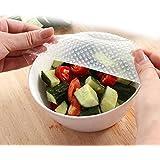 oumosi 4pcs alimentos silicona de diseño ecológico Envoltorios de silicona reutilizables fresh-keeping conservante Película