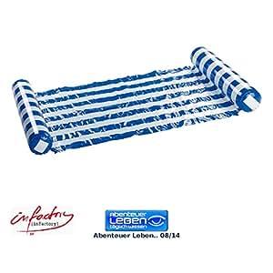 infactory Wasserhängematten: Ultrabequeme Wasser-Hängematte 130 x 70 cm (Schwimmhängematte)