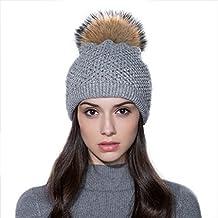 Ferand - Gorro de invierno para Mujeres de Punto de Lana con Pequeños  Cristales y un 37fd2860ab2