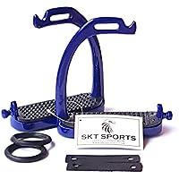 SKT SPORTS PEACOCK SAFETY STIRRUPS NAVY BLUE 4.50 HORSE RIDING STIRRUPS