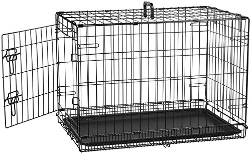 AmazonBasics Single-Door Folding Metal Dog Crate, 30-Inches