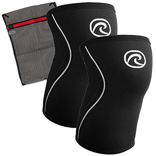 Ziatec Rehband [1 Paar] 5 mm Rx-Kniebandage für Kinder, Kniestütze Junior Wäschenetz, Knieschutz-Schwarz, Farbe:schwarz, Größe:M - 1 Paar