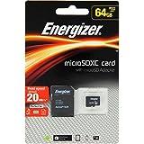 Energizer Classic Carte mémoire microSD Class 10 64 Go avec Adaptateur