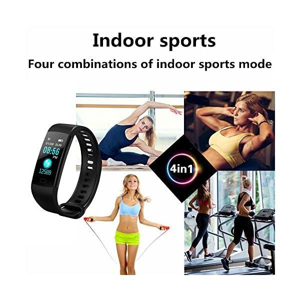 YILON Pulsera Actividad Fitness Tracker Pulsera Inteligente Reloj Fitness Podómetro Monitor de Ritmo cardíaco IP67… 8