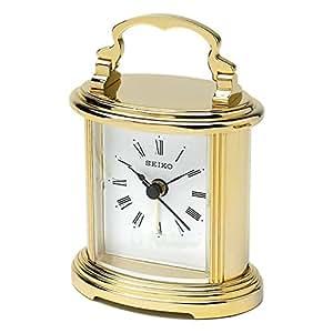 Seiko Carriage Clock QHE109G Brand New: Amazon.co.uk