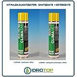 Idrotop Nettoyant pour climatiseurs Split KIT 600 ml : 1 nettoyant + 1 désinfectant