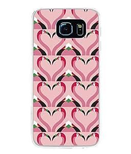 PrintVisa Designer Back Case Cover for Samsung Galaxy S6 G920I :: Samsung Galaxy S6 G9200 G9208 G9208/Ss G9209 G920A G920F G920Fd G920S G920T (Birds Art Pattern Horizontal )