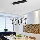 Modern Schwenkbar Hängelampe Aluminium Acryl Lampenschirme Wohnzimmerleuchte Schlafzimmerleuchte Elegante Einfache Creative Pendellampe Wendeltreppe Hängeleuchte Höhenverstellbar Schwarz 230V