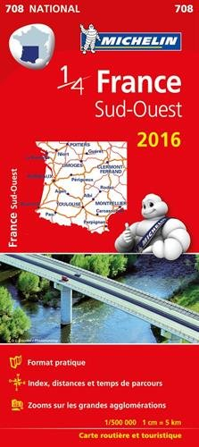 Carte France Sud-Ouest 2016 Michelin