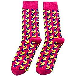Daliuing Calcetines tubulares Calcetines Calientes Calcetines de Colores de Hombre de diseño con Suave Algodón para Mantener Calcetines Calientes para el Hombre Hip-Hop Style5 M