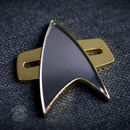STAR TREK Voyager + DS9 Communicator Abzeichen mit Magnet Befestigung