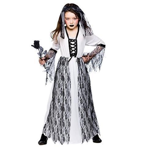 Corpse Bride Costume Enfant - Costume enfant fantôme de mariée. robe et
