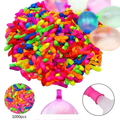 Zodight 1000 Pack Wasserballons Wasserbomben Wasser Bomben Selbstsiegelung für Sommerfest Spielzeug Strand Schnellfüller Water Luftballons Luftballons bunt (keine Notwendigkeit zu binden)
