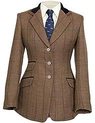 """Shires Huntingdon - Chaqueta de equitación de tweed para mujer, mujer, color marrón, tamaño 34"""" (UK 10)"""