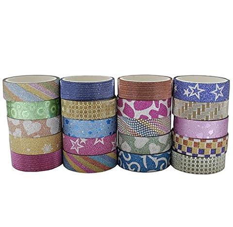 20 x Rolls of Decorative Washi Masking Tape Set by