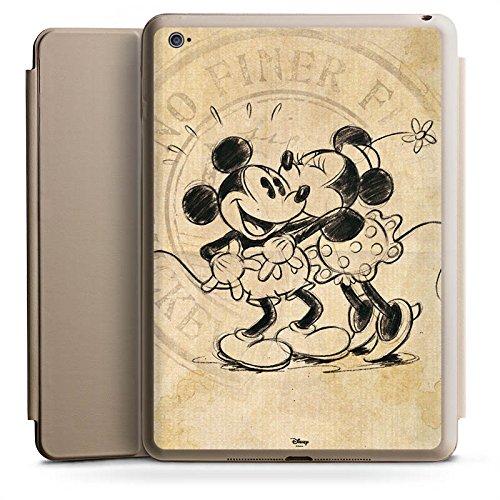 Apple iPad Air 2 Smart Case Hülle Tasche mit Ständer Smart Cover Disney Minnie & Mickey Mouse Geschenke Merchandise (Ipad Disney Cover)